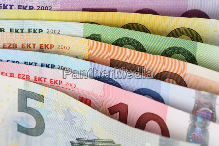 wszystkie, banknoty, euro, z, rzędu - 10297021