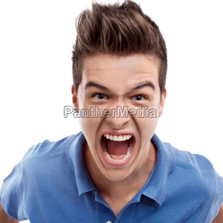zły, człowiek, krzycząc - 10311713