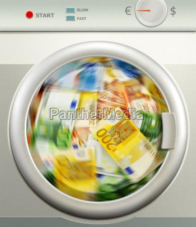 pranie, pieniędzy., euro, waluta, europejska - 10321319