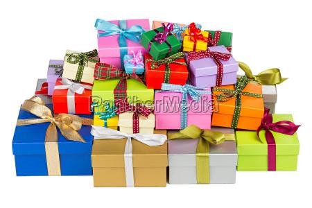 kolorowe, pudełka, na, prezenty - 10415185