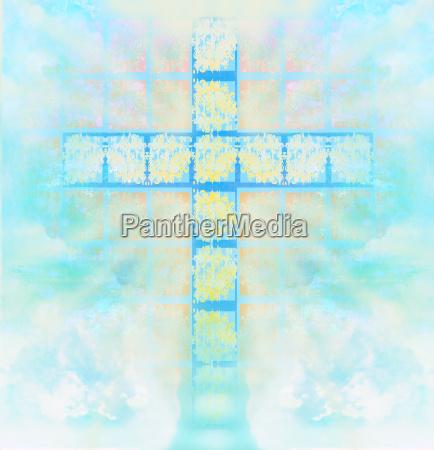 niebieski szklo kubek kielich religia religijne