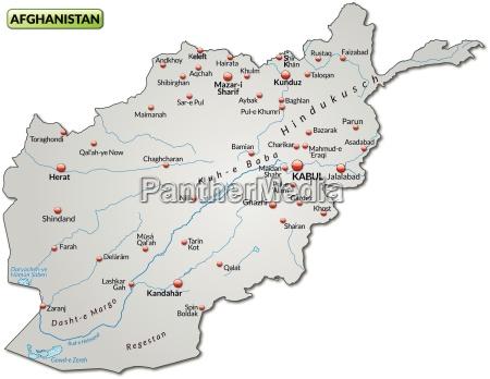 mapa afganistanu jako mapa ogolna w