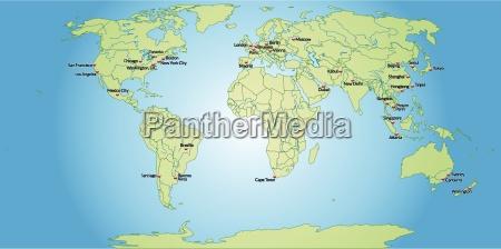 mapa swiata z wielkimi literami w