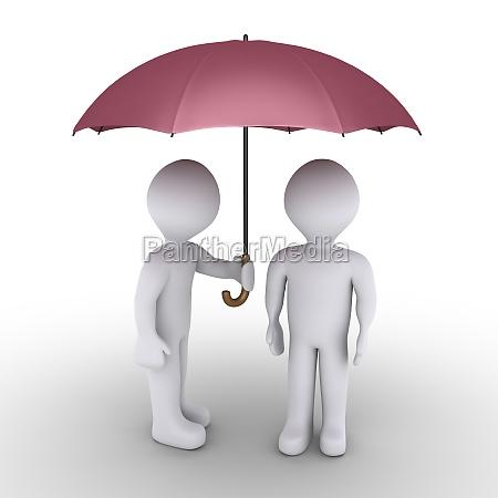 osoba ochrony z parasolem inny