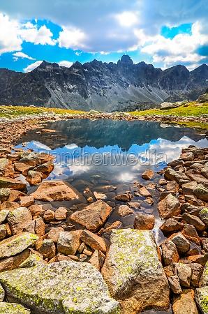 scenic widoku pionowego gorskie jeziora w