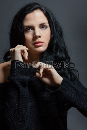 dark haired attractive young woman with