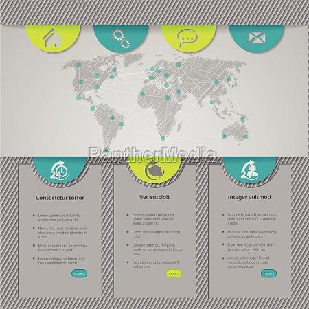 projekt szablonu strony internetowej z mapa