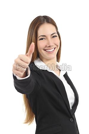gest kciuk kobieta piekny szczesliwy w