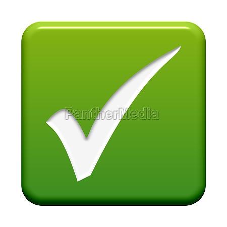 zielony przycisk hak