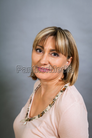adult attractive woman in middle age