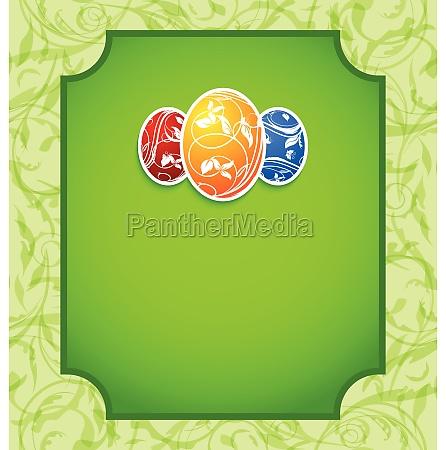 wielkanocna elegancja karta z kolorowych jaj