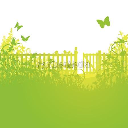 ogrodzenie ogrodowe i otwarta brama ogrodowa