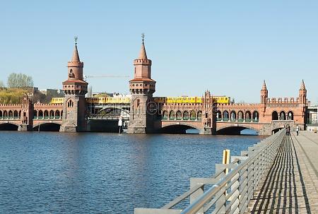 historyczny pomost spree river rzeka aqua