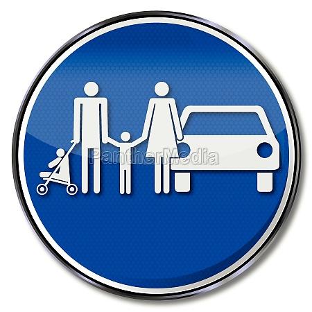 parking zakupy weekend symbol statusu polityki