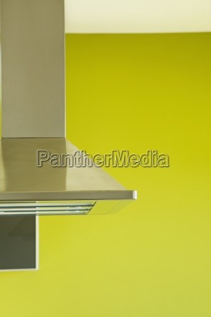 detail of modern kitchen with green