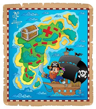 pirate map theme image 1
