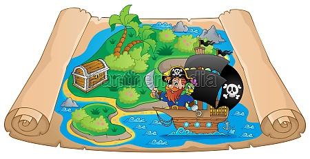 pirate map theme image 2
