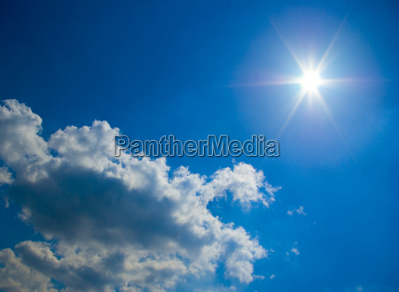 niebieski niebo raj niebiosa oblok chmura