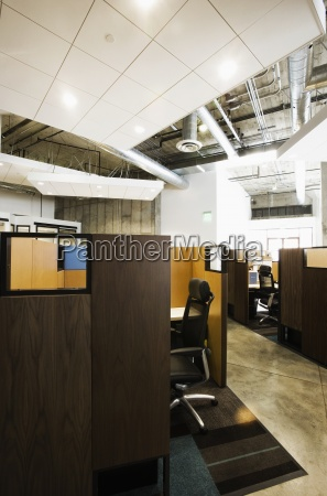 detail of modern office space with