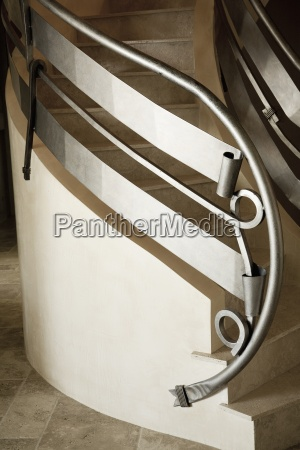 detail of a custom metal staircase