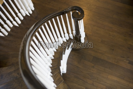 detail winding staircase railing
