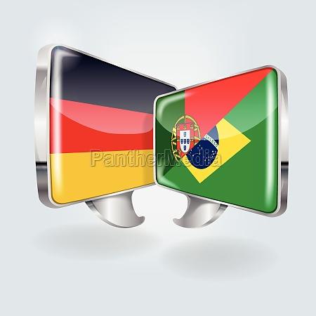 pecherzyki mowy w jezyku niemieckim portugalskim