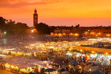 jamaa el fna marrakesz maroko