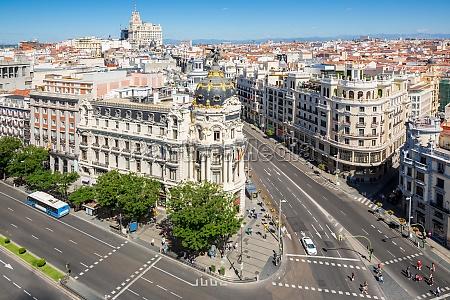 gran via madryt hiszpania