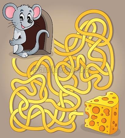 labirynt 1 z myszka i serem