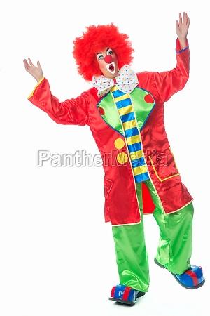 zaskoczony klaun