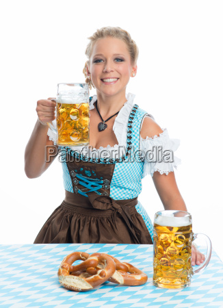 bayrin with beer and pretzel