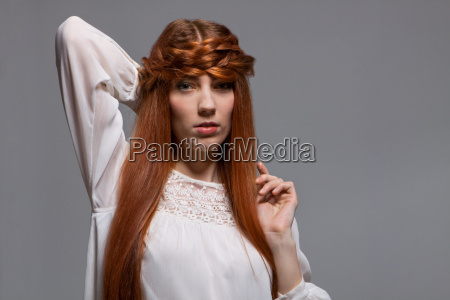 young attractive woman girl with long