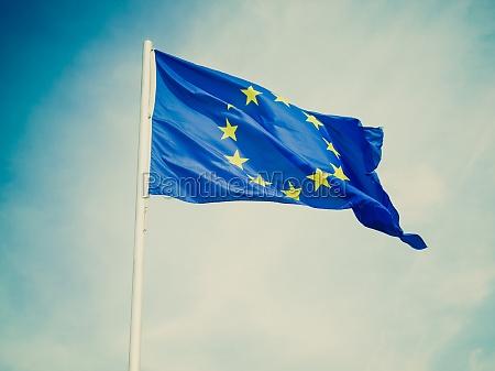 retro wyglad flaga europy