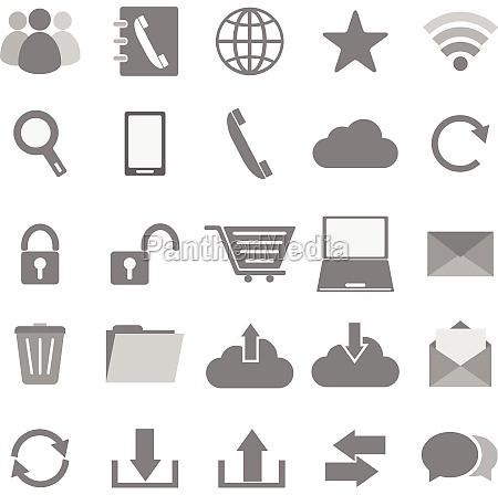 ikony komunikacji na bialym tle