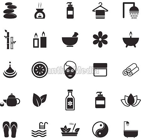 ikony spa na bialym tle