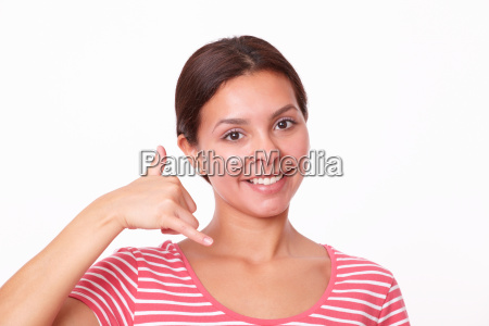 urocze latin dziewczyna z gestem polaczen