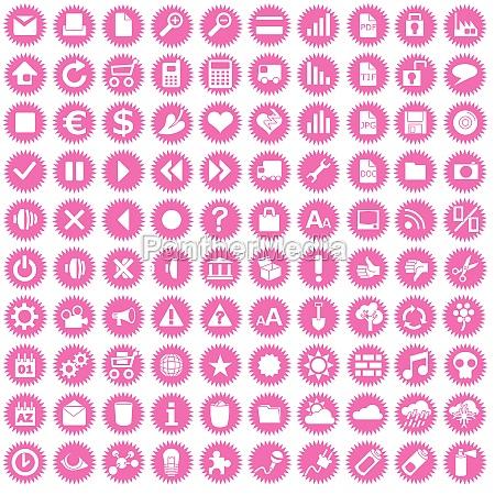 sto ikon biznesu na rozowych gwiazdach