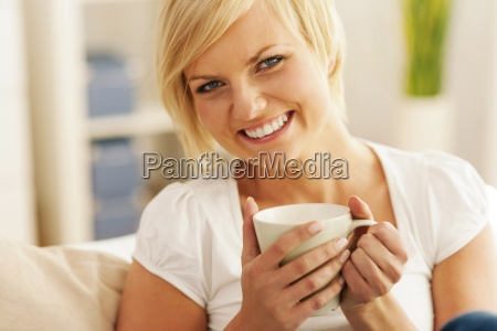 beautiful and smiling woman with a