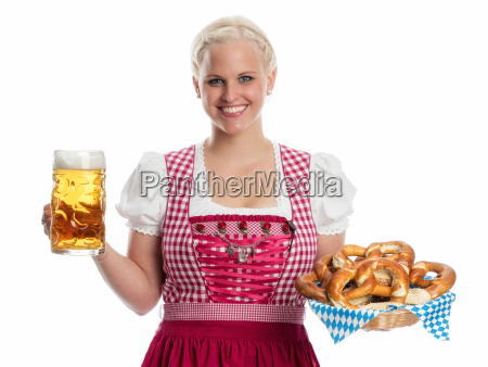 madl with beer and pretzel