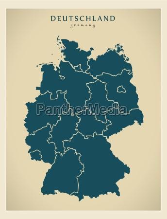 nowoczesna mapa niemcy