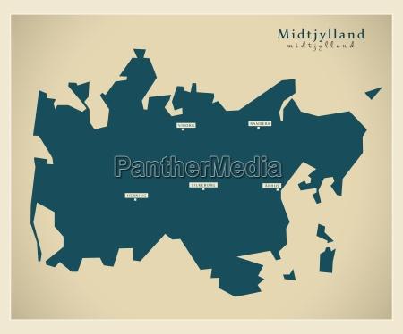 nowoczesna mapa midtjylland dk