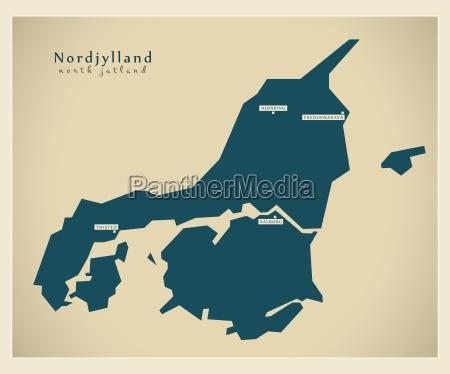 nowoczesna mapa nordjylland dk