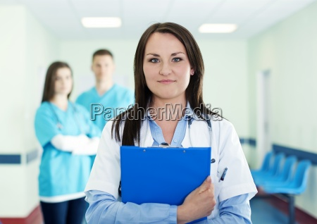 portrait of young female doctor with