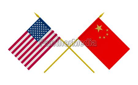 usa flaga porcelana bandera przezroczysty stan