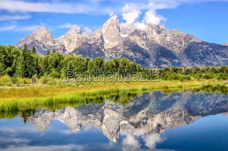 uroczysty teton gor krajobrazowy widok z