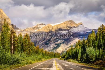 malowniczy widok na ulice na icefields