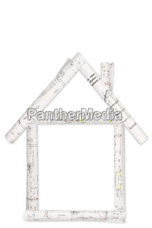 house building plans isolated