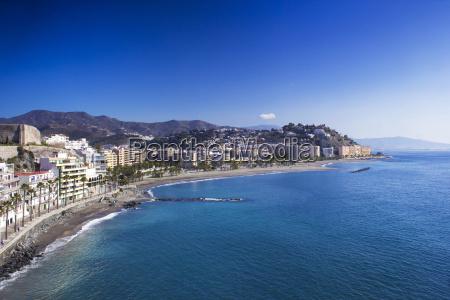 playa de la caletilla almunecar andalusia