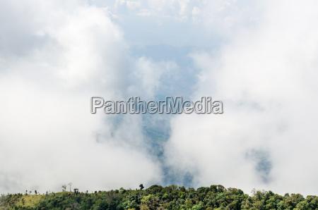 wysoki kat widzenia nieba i chmur