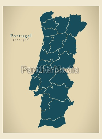 nowoczesna mapa portugalskie dzielnice pt